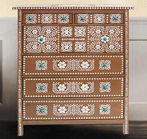 Faux Bone Inlay Dresser