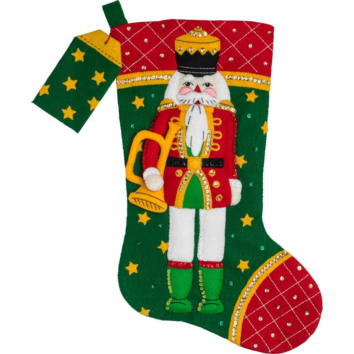 Bucilla ® Seasonal - Felt - Stocking Kits - Hallmark - Christmas Classic Nutcracker