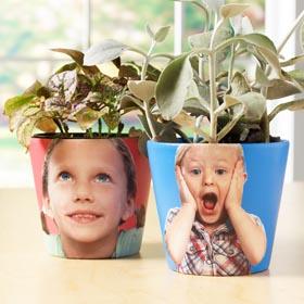 Clay Pot Photo Transfer - Plant Hair Kids' Planters