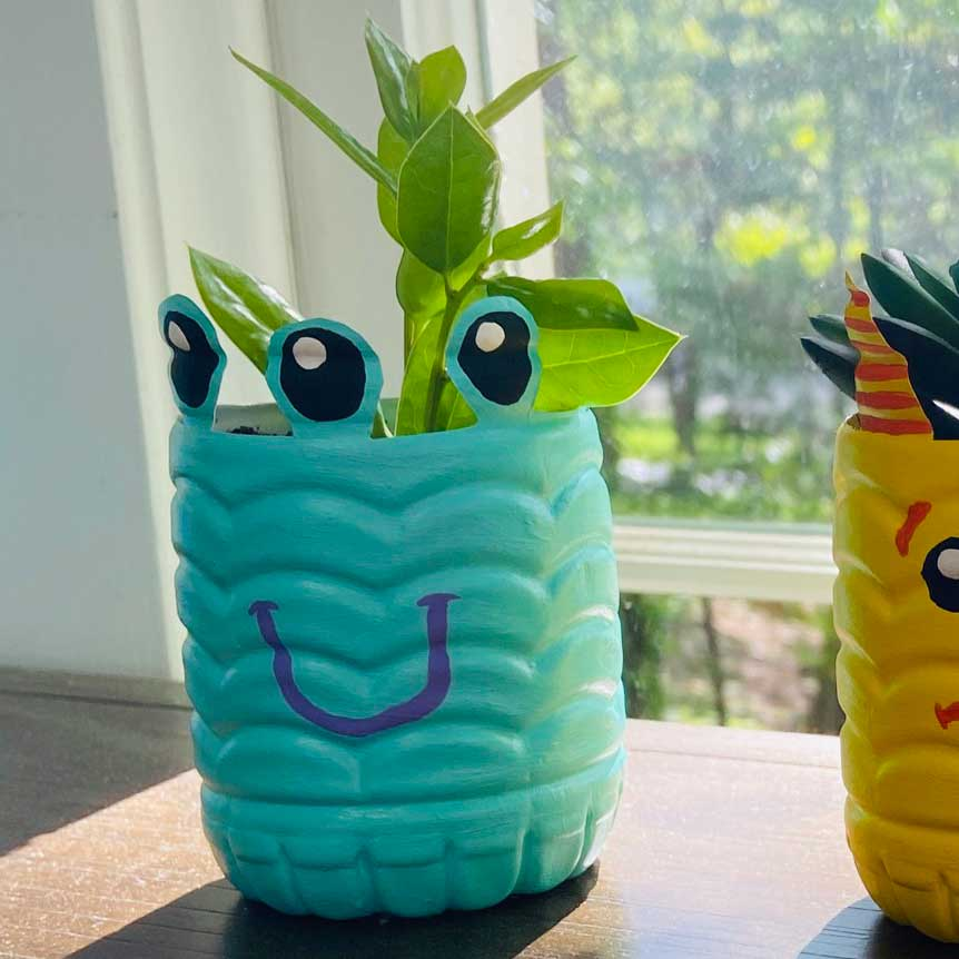 Monster Bottle Planters