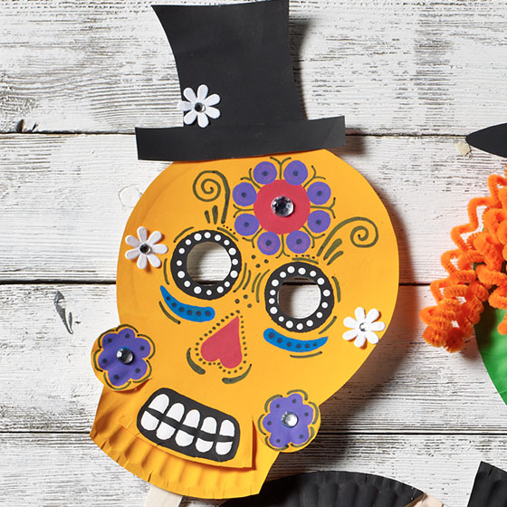 Sugar Skull Homemade Halloween Mask