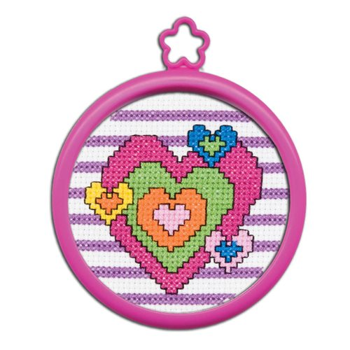 Bucilla ® My 1st Stitch™ - Counted Cross Stitch Kits - Mini - Heart