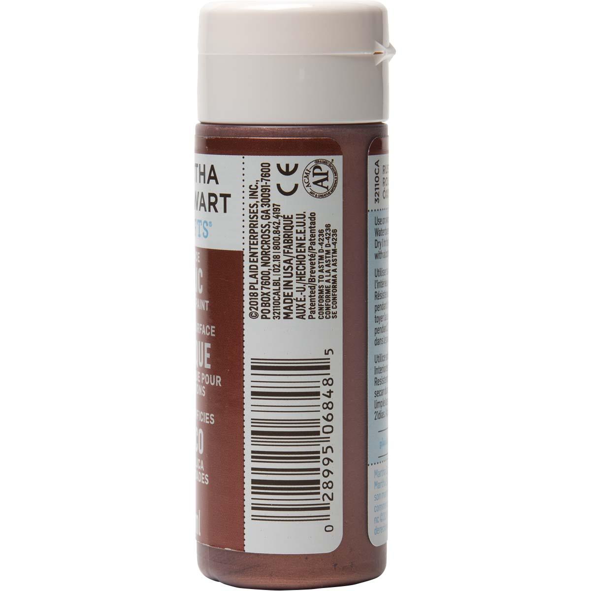 Martha Stewart ® Multi-Surface Metallic Acrylic Craft Paint - Rust, 2 oz. - 32110CA