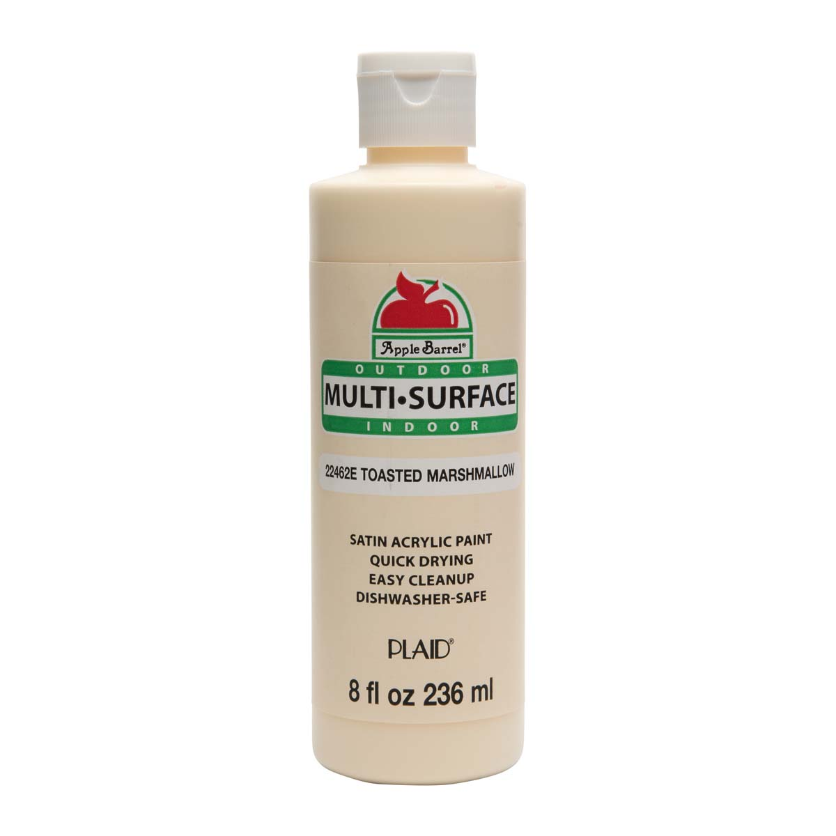 Apple Barrel ® Multi-Surface Satin Acrylic Paints - Toasted Marshmallow, 8 oz. - 22462E