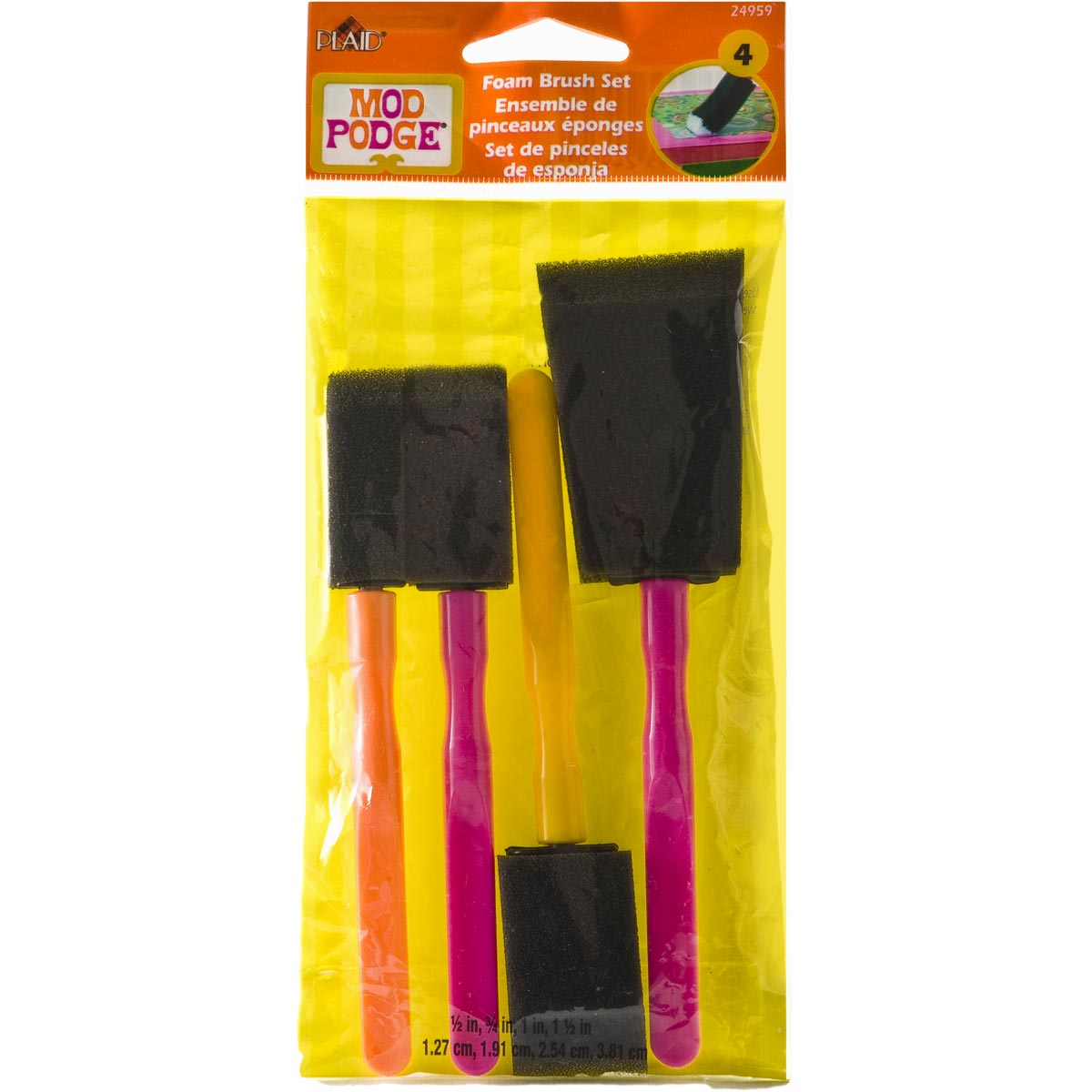 Mod Podge ® Foam Brush Set, 4 pc. - 24959