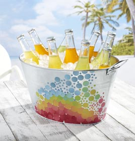 Decoupage Craft Idea - Decorated Ice Bucket