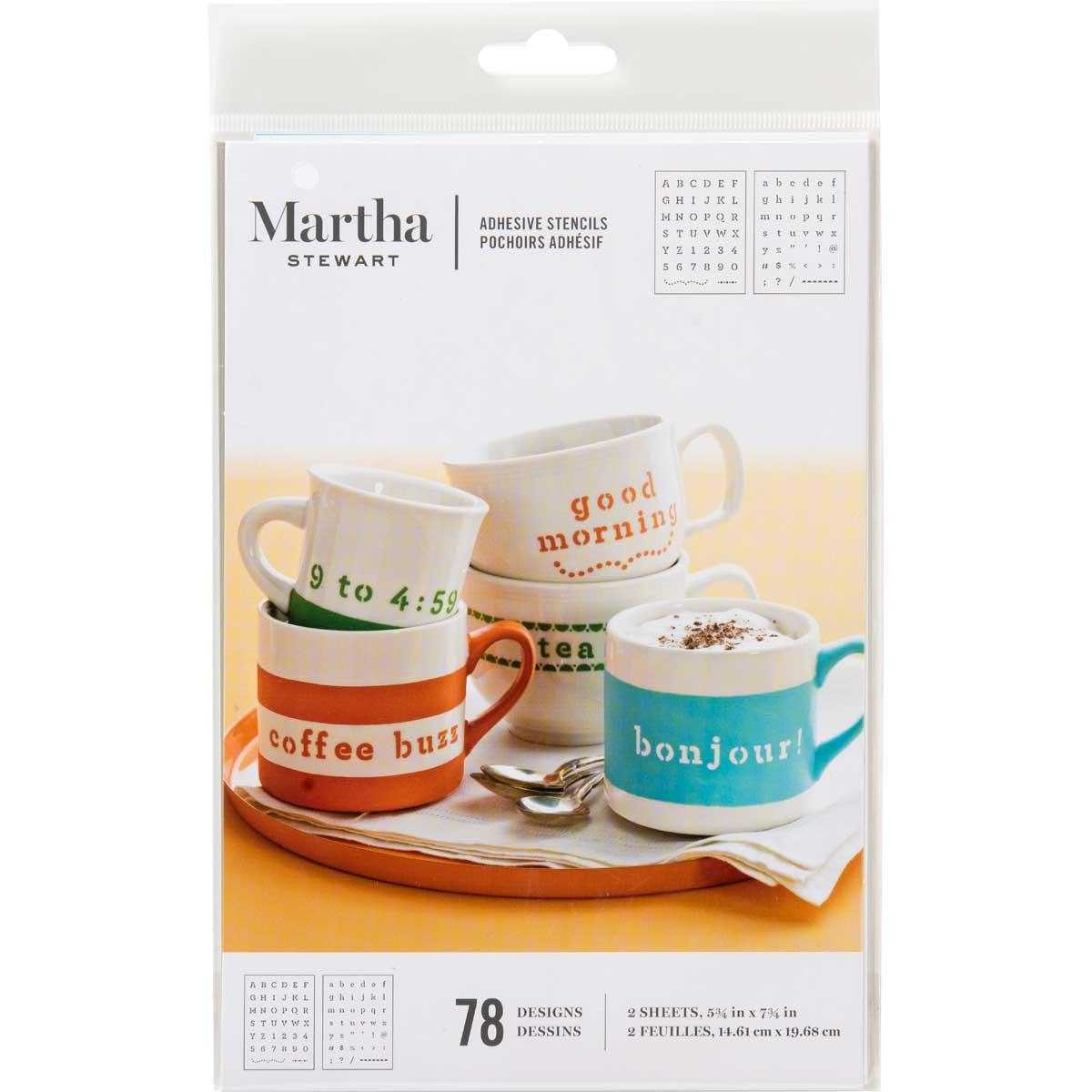 Martha Stewart ® Adhesive Stencil - Typewriter - 32307