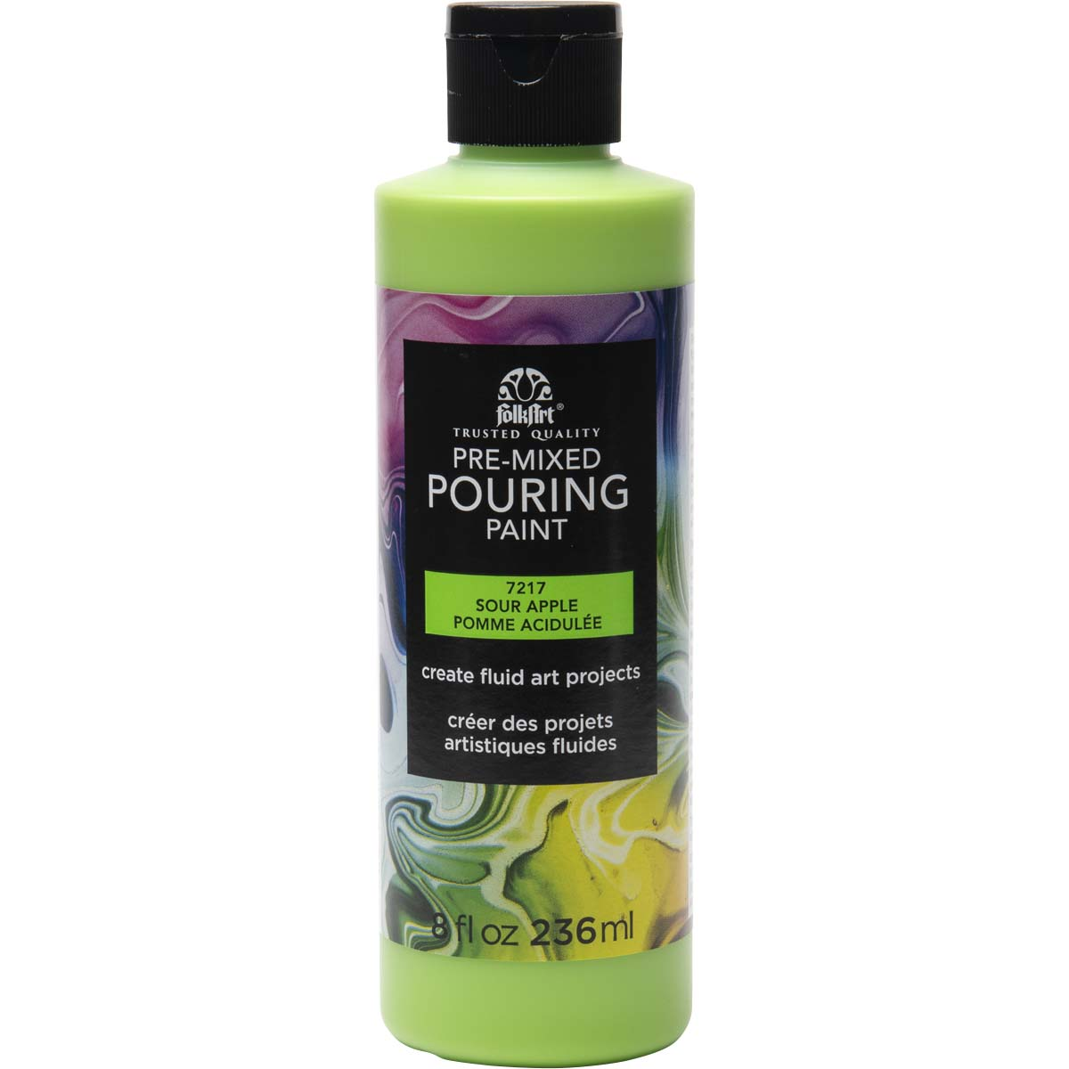 FolkArt ® Pre-mixed Pouring Paint - Sour Apple, 8 oz. - 7217