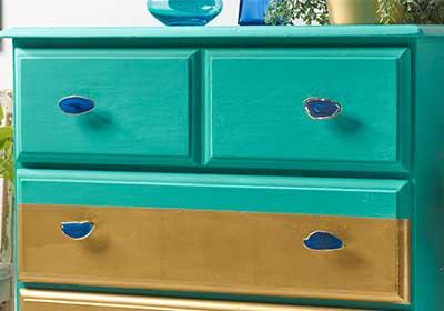 Geodic Metallic Painted Dresser