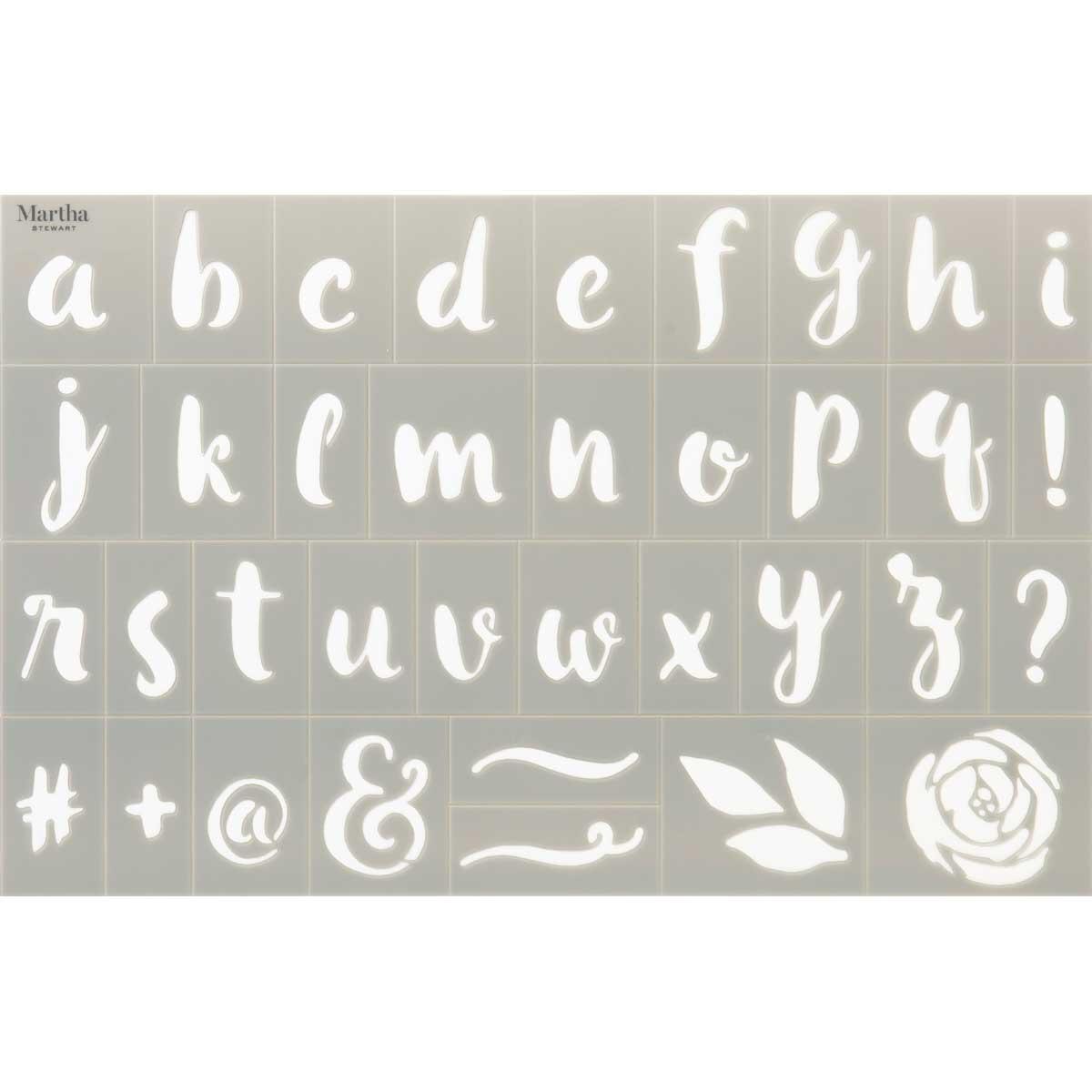 Martha Stewart® Adhesive Stencil - Alphabets