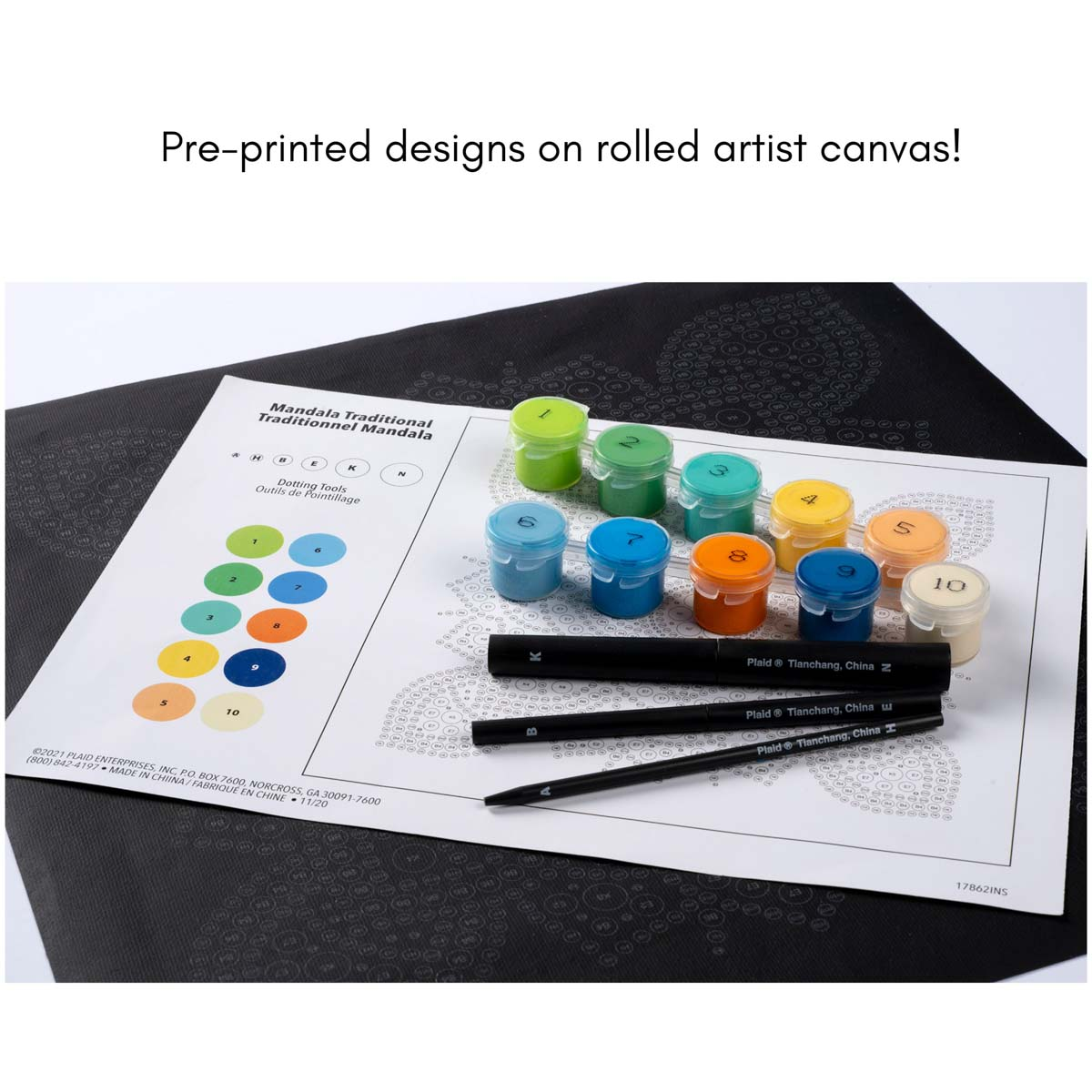 Plaid ® Let's Paint™ Mandala Dot-by-Number - Sea Turtle - 17867