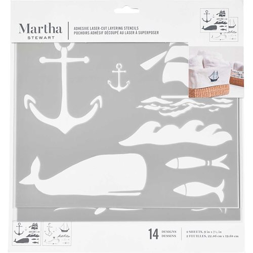 Martha Stewart ® Adhesive Stencil - Nautical - 17635