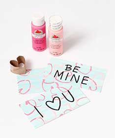 DIY Stamped Hearts  Valentine Cards for Kids