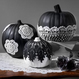 Black and White Pumpkin Idea