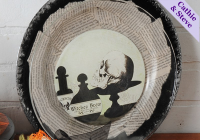 Halloween Plate and Charger