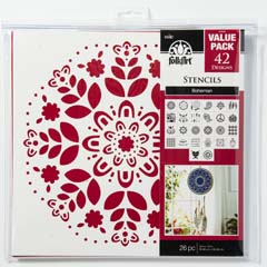 "FolkArt ® Stencil Value Packs - Bohemian, 12"" x 12"""
