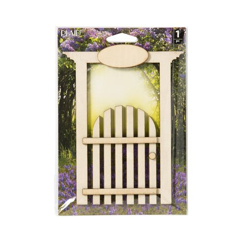 Plaid ® Wood Surfaces - Fairy Garden - Fence Doorway