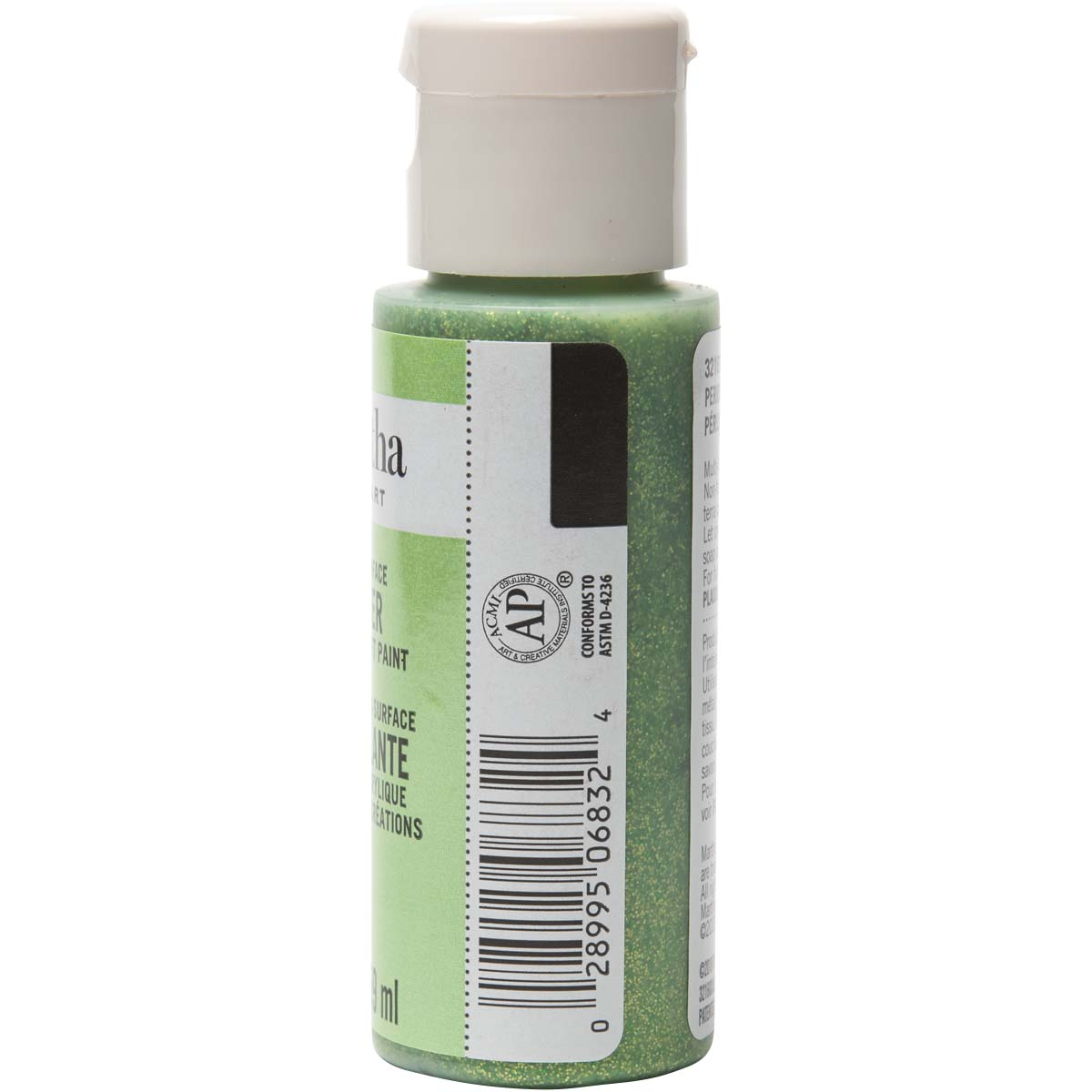 Martha Stewart ® Multi-Surface Glitter Acrylic Craft Paint - Peridot, 2 oz.