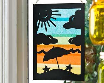 Summer Silhouette Window Art
