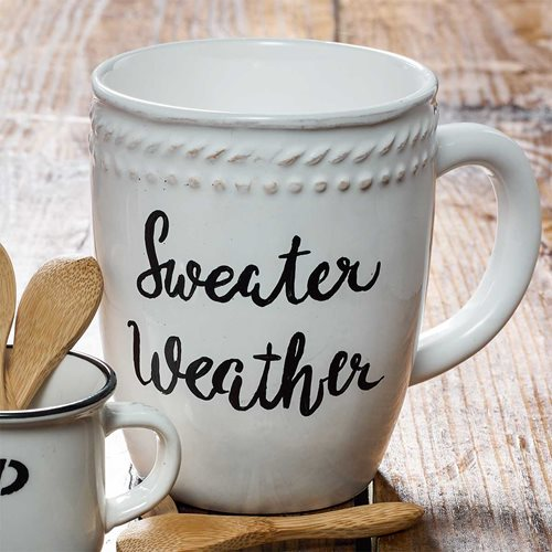 DIY Painted Coffee Mug - Sweater Weather