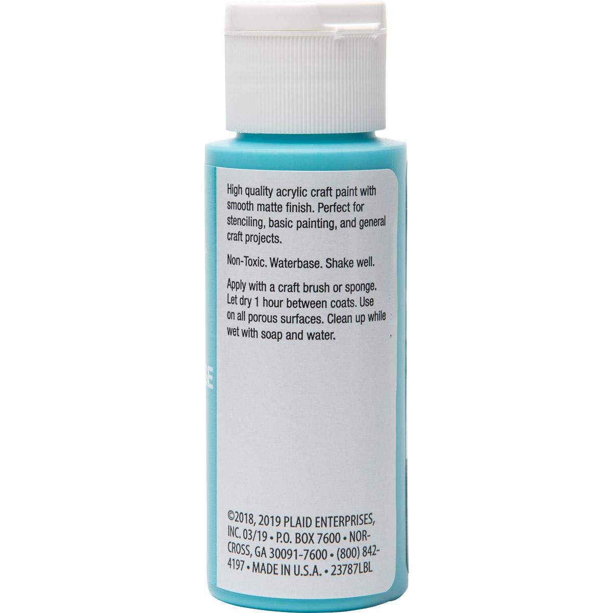 Plaid ® Painter's Palette™ Acrylic Paint - Light Turquoise, 2 oz. - 23787