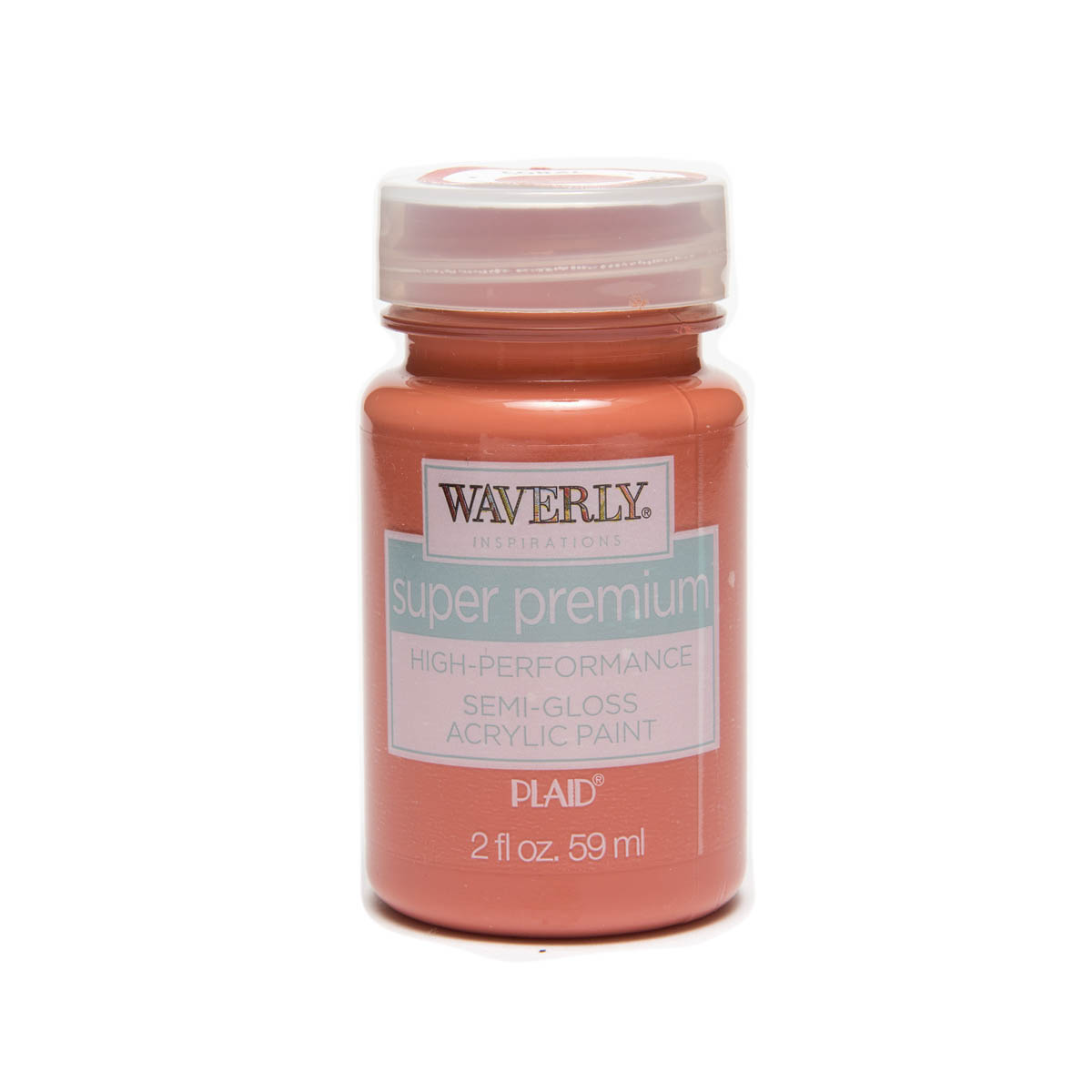 Waverly ® Inspirations Super Premium Semi-Gloss Acrylic Paint - Coral, 2 oz. - 60612E