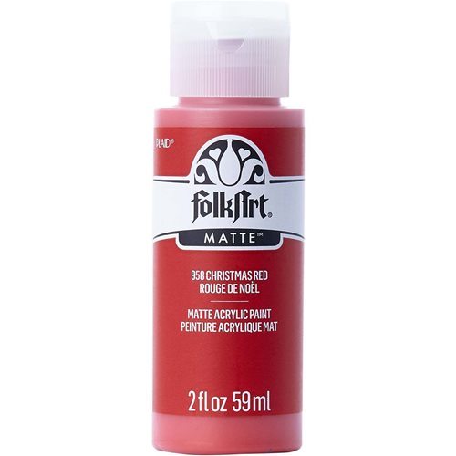 FolkArt ® Acrylic Colors - Christmas Red, 2 oz.