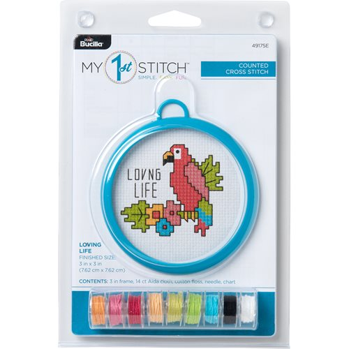 Bucilla ® My 1st Stitch™ - Counted Cross Stitch Kits - Mini - Loving Life