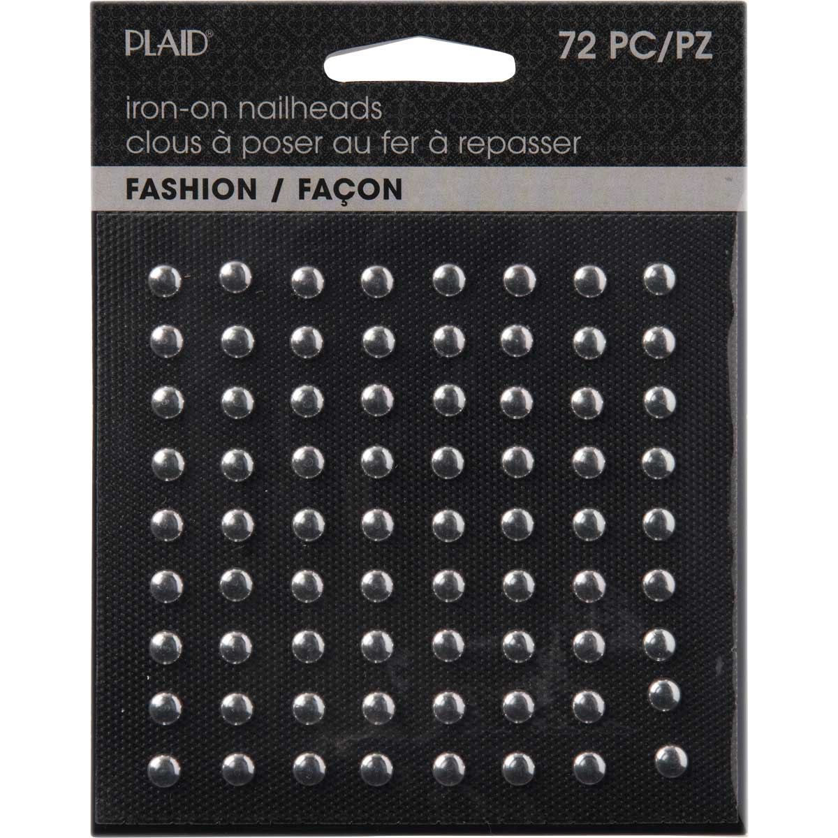 Plaid ® Hot Fix Nailhead Iron-Ons - Round Shiny Silver - 71024