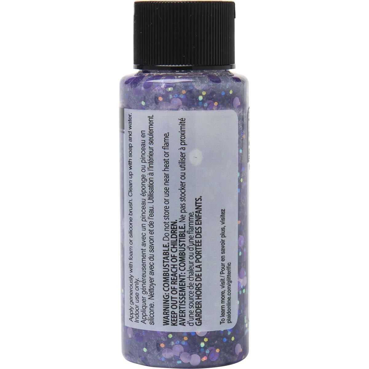 FolkArt ® Glitterific™ Polka Dot Acrylic Paint - Lavender, 2 oz. - 7192