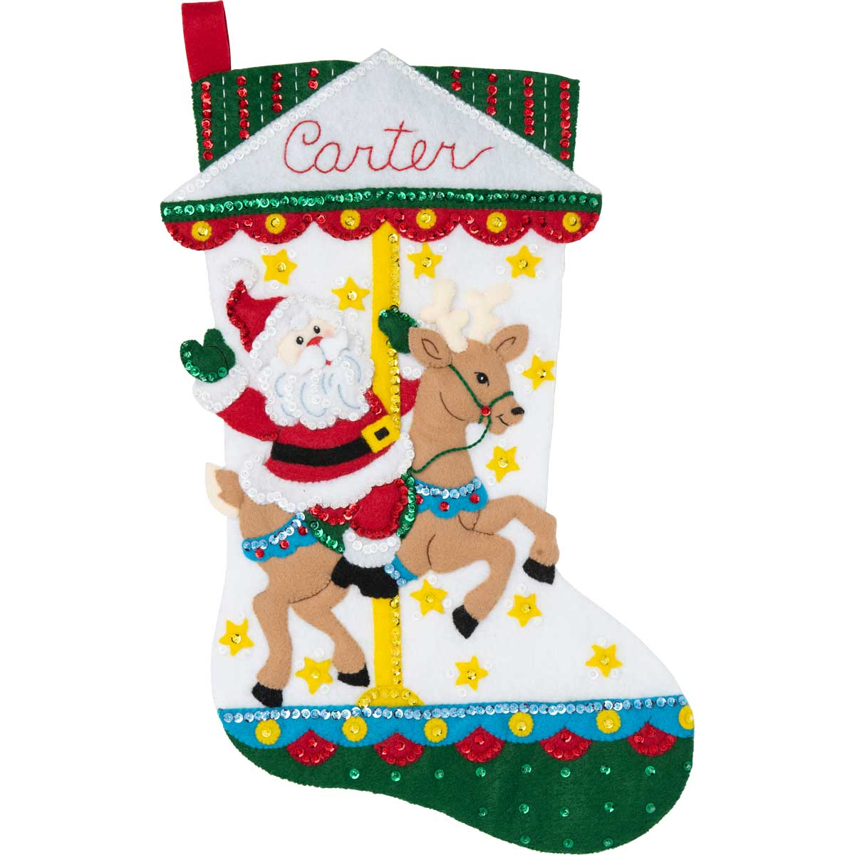 Bucilla ® Seasonal - Felt - Stocking Kits - Carousel Santa