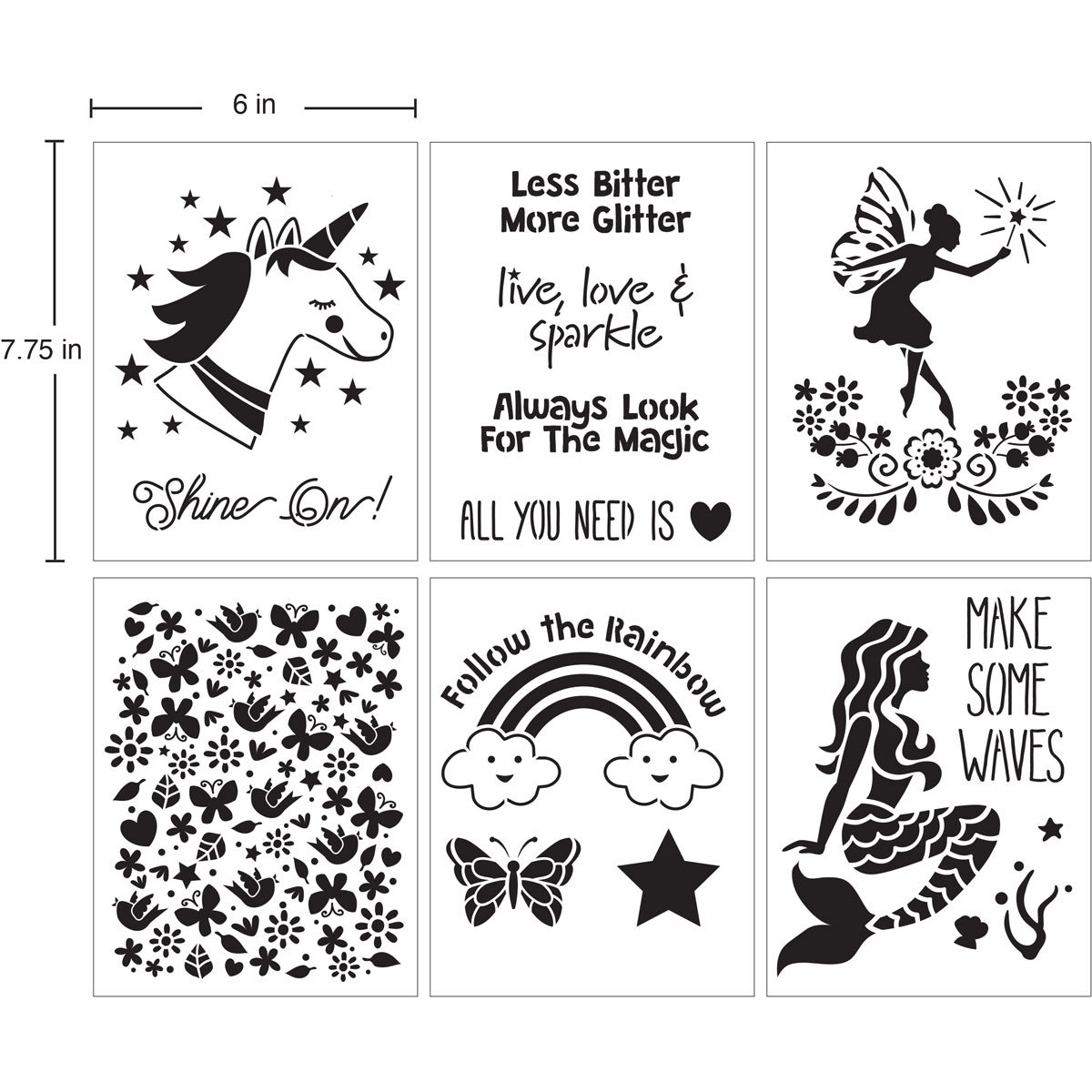 Delta Creative™ Stencil - Fantasy Girl