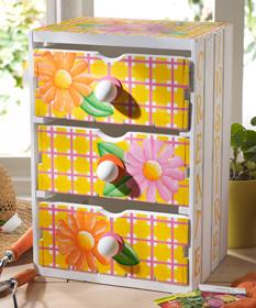 Wood Drawer Storage Unit
