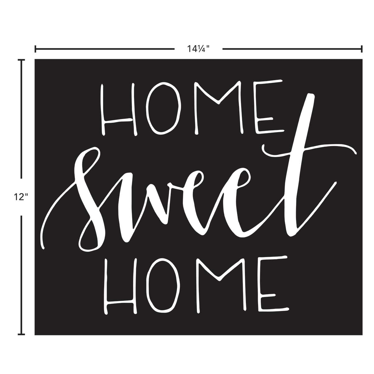 FolkArt ® Painting Stencils - Sign Making - Project Studio™ Home Sweet Home - 63272