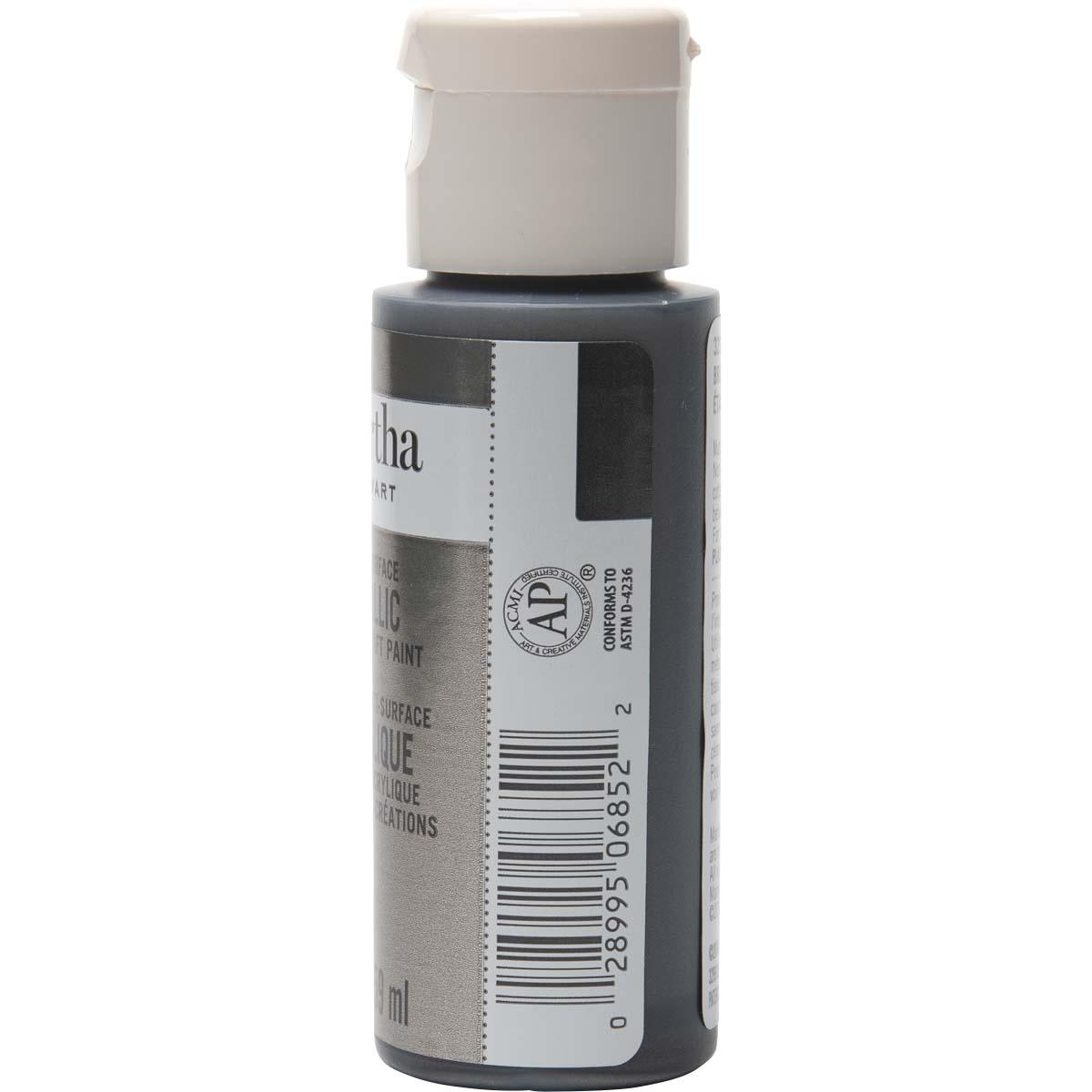 Martha Stewart® 2oz Multi-Surface Metallic Acrylic Craft Paint - Brushed Pewter