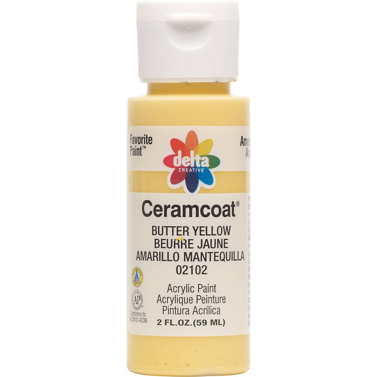 Delta Ceramcoat ® Acrylic Paint - Butter Yellow, 2 oz.