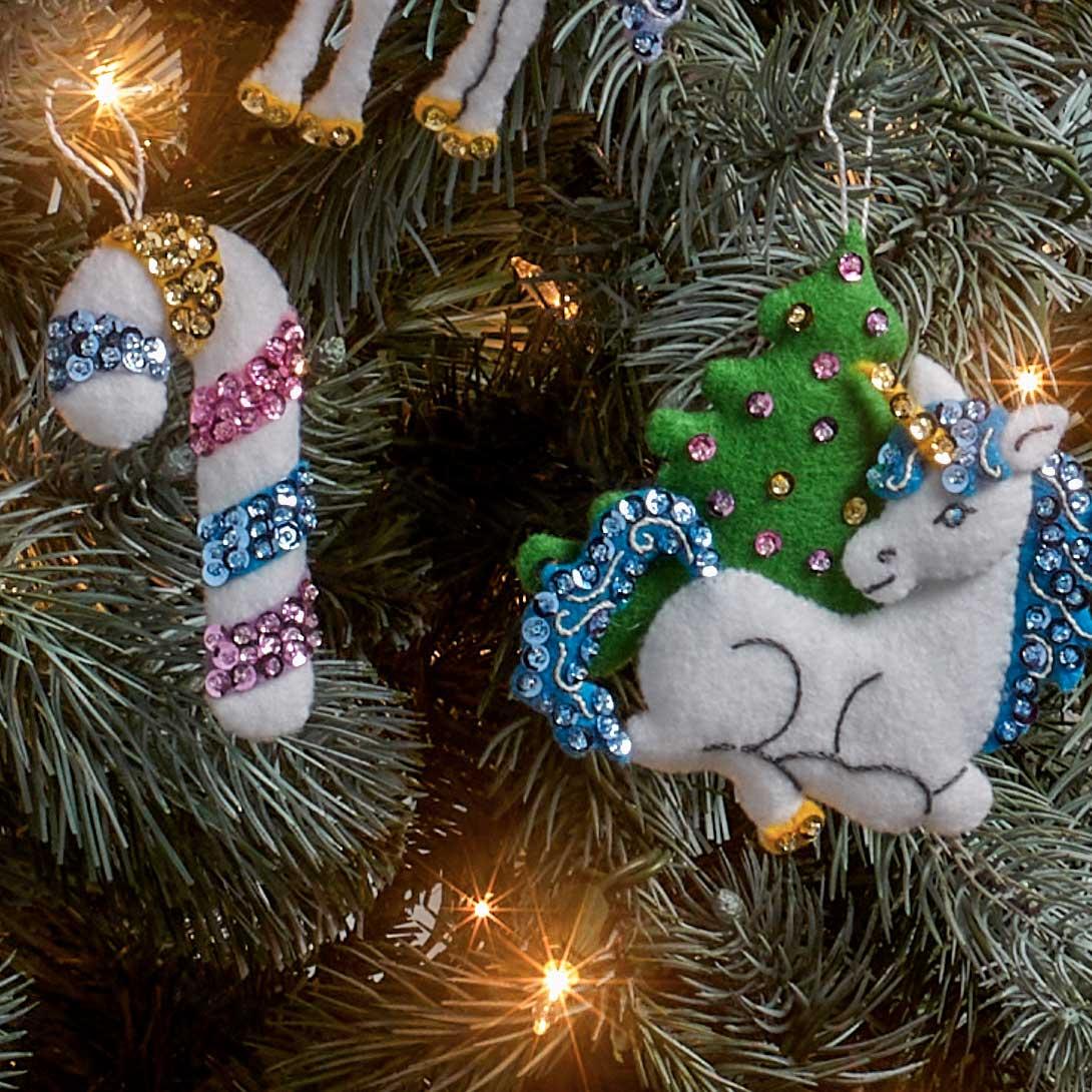 Bucilla ® Seasonal - Felt - Ornament Kits - Santa's Unicorn - 89280E