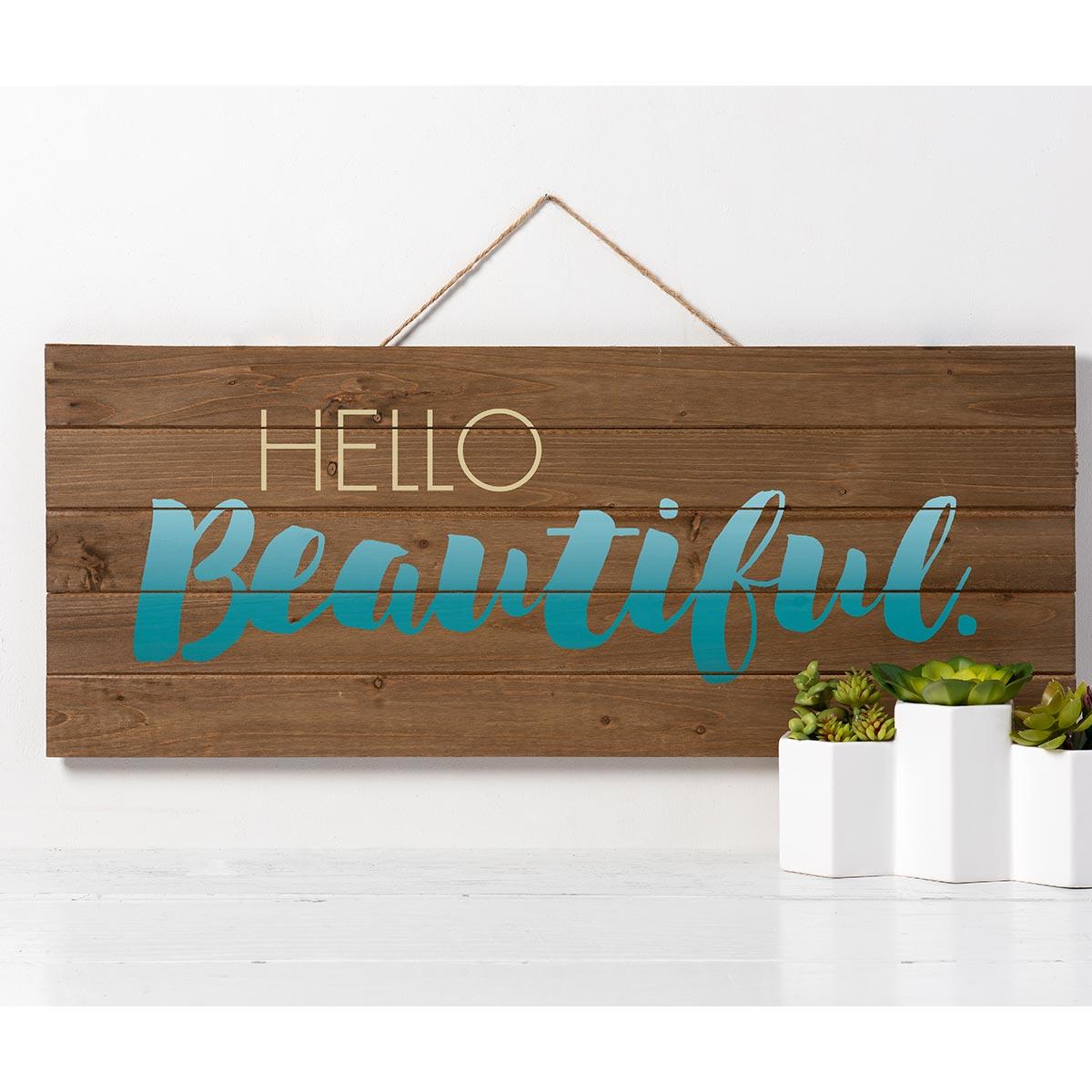 FolkArt ® Sign Shop™ Mesh Stencil - Hello Beautiful - 63386
