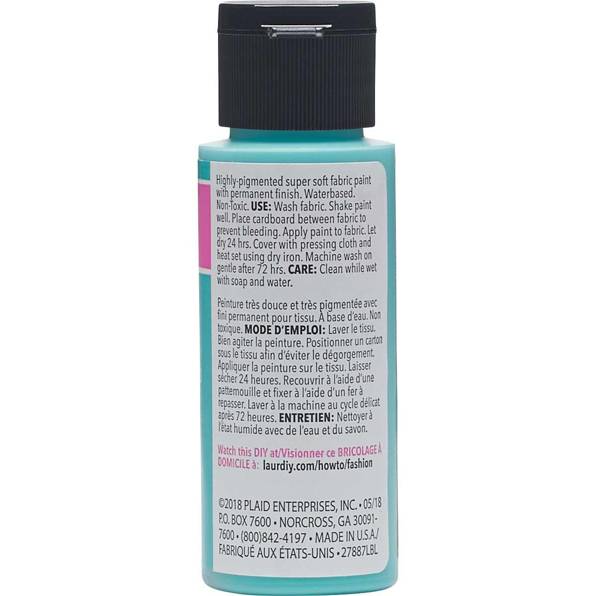 LaurDIY ® Perfect Fabric Paint - Aquamarine, 2 oz.