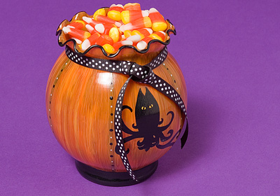 Owl Pumpkin Ivy Bowl