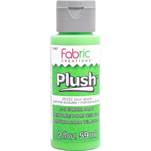 Fabric Creations™ Plush™ 3-D Fabric Paints - Sour Apple, 2 oz.