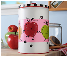 Happy Apple Kitchen Canister
