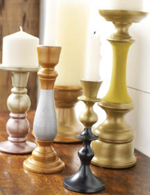 Metallic Candlestick Holders