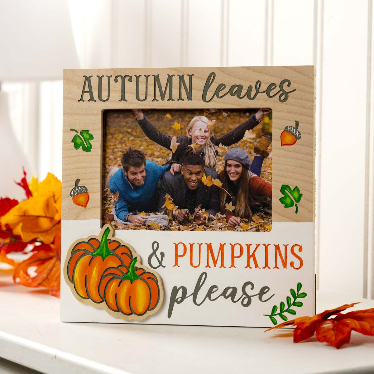 Plaid ® Wood Surfaces - Fall Celebration Frame and Plaque Bundle - 56977