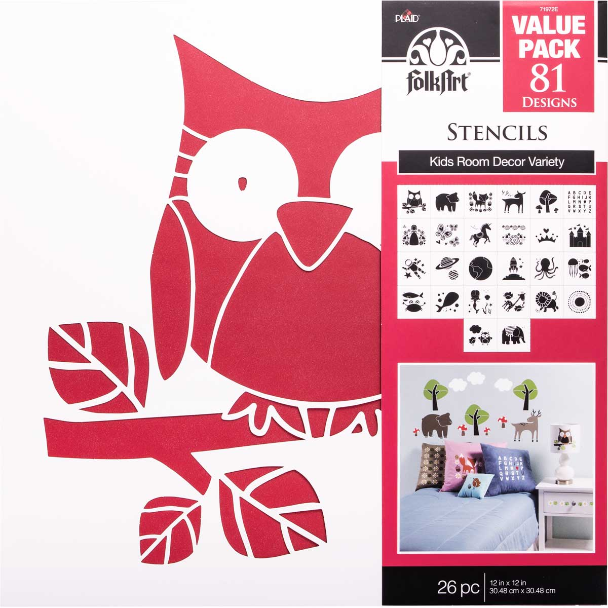 FolkArt ® Stencil Value Packs   Kids Decor, 12