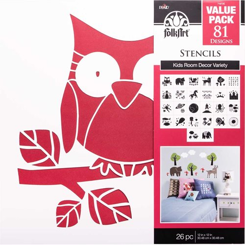 "FolkArt ® Stencil Value Packs - Kids Decor, 12"" x 12"" - 71972E"