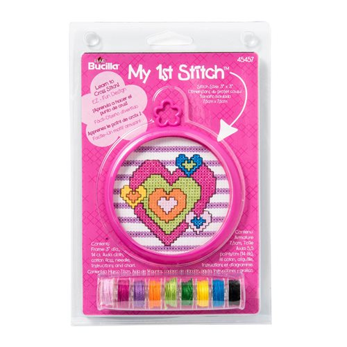 Bucilla ® My 1st Stitch™ - Counted Cross Stitch Kits - Mini - Heart - 45457
