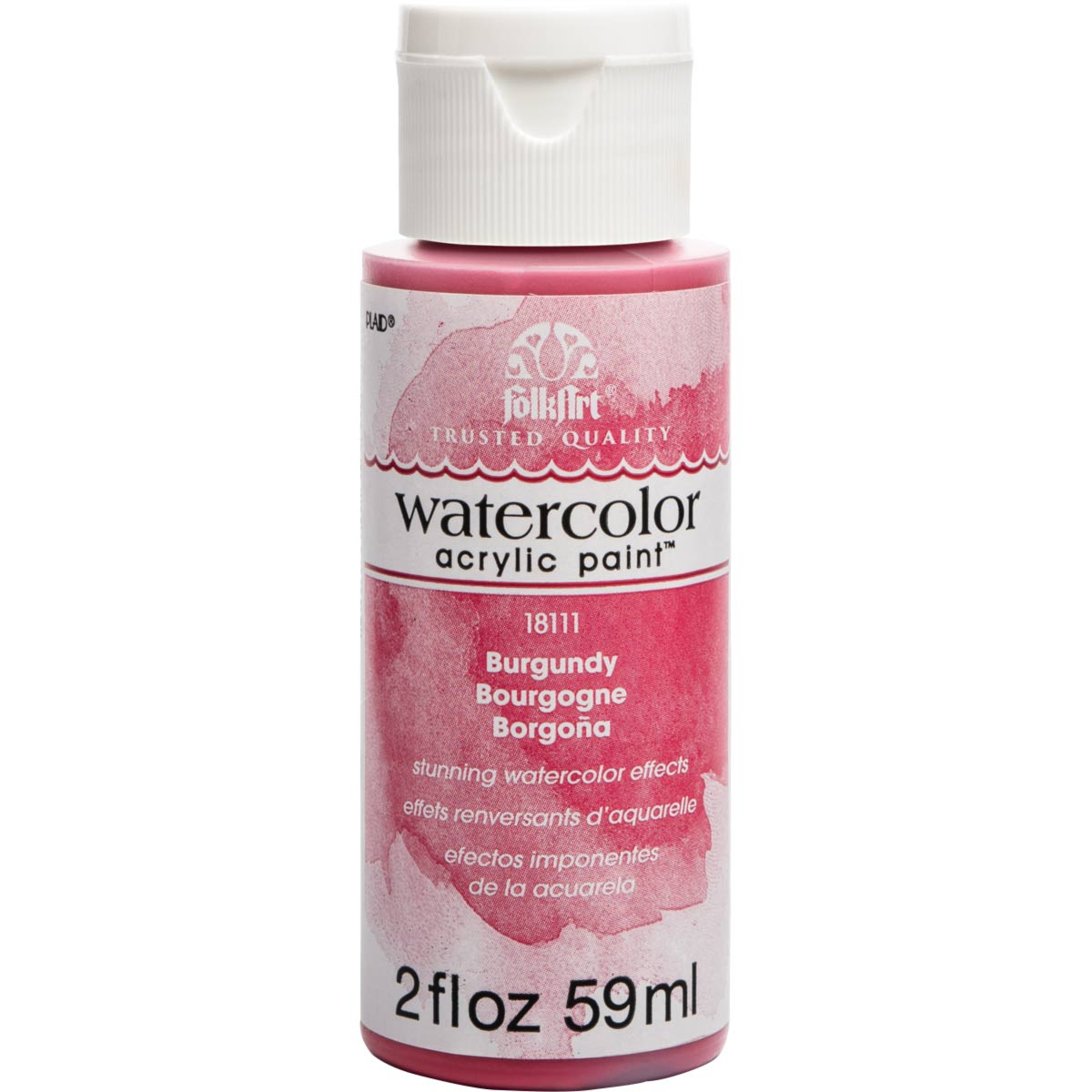 FolkArt ® Watercolor Acrylic Paint™ - Burgundy, 2 oz. - 18111