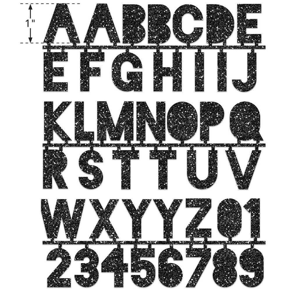 LaurDIY ® Iron-on Glitter Fabric Letters - Vintage Rebel