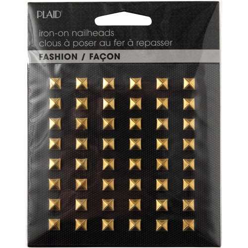 Plaid ® Hot Fix Nailhead Iron-Ons - Pyramid Shiny Gold